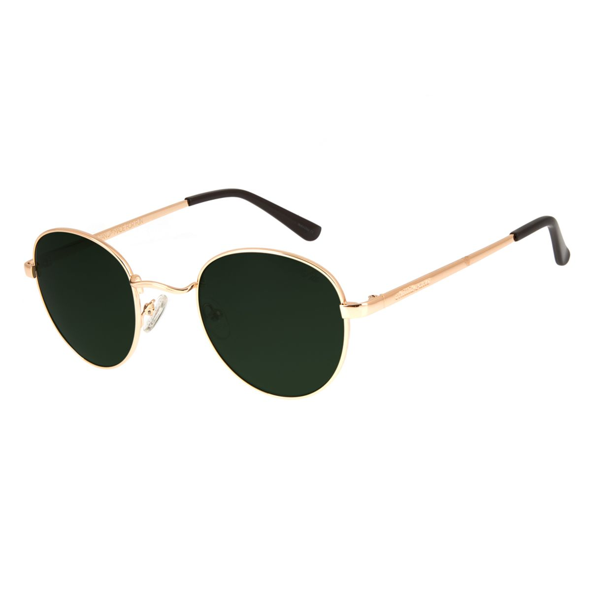 5f077f330 Óculos De Sol Chilli Beans Unissex Metal Redondo Dourado 2517 ...