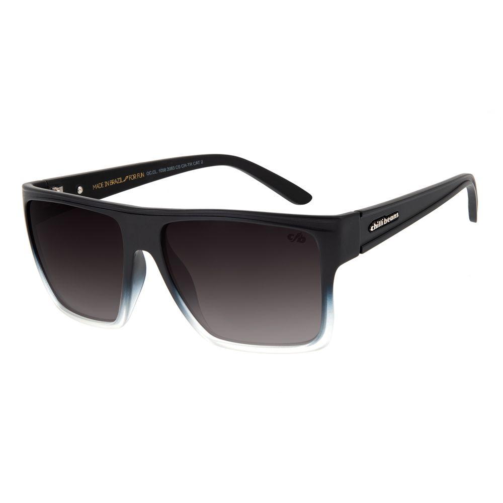 Óculos de Sol Chilli Beans Unissex Essential Quadrado Degradê Azul OC.CL.1058-2083