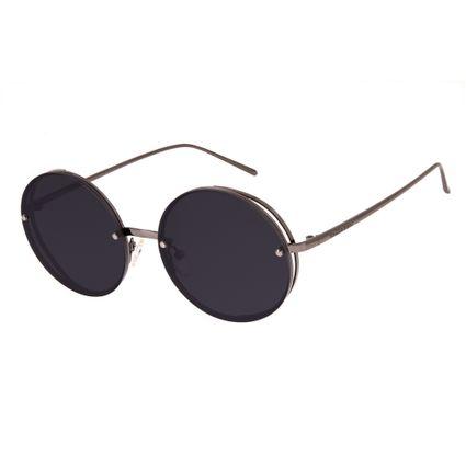 oculos de sol chilli beans unissex redondo metal lateral onix 2624 0101