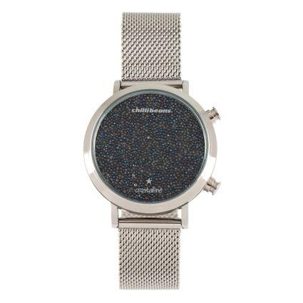 d4b3d932befae Relógio Chilli Beans Digital Feminino Crystalline Prata 0795