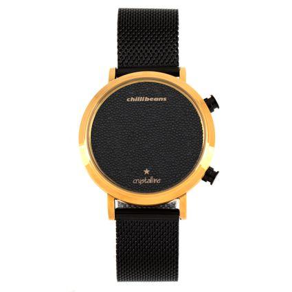 7e8809dcbbbf0 Relógio Chilli Beans Digital Feminino Crystalline Preto 0795