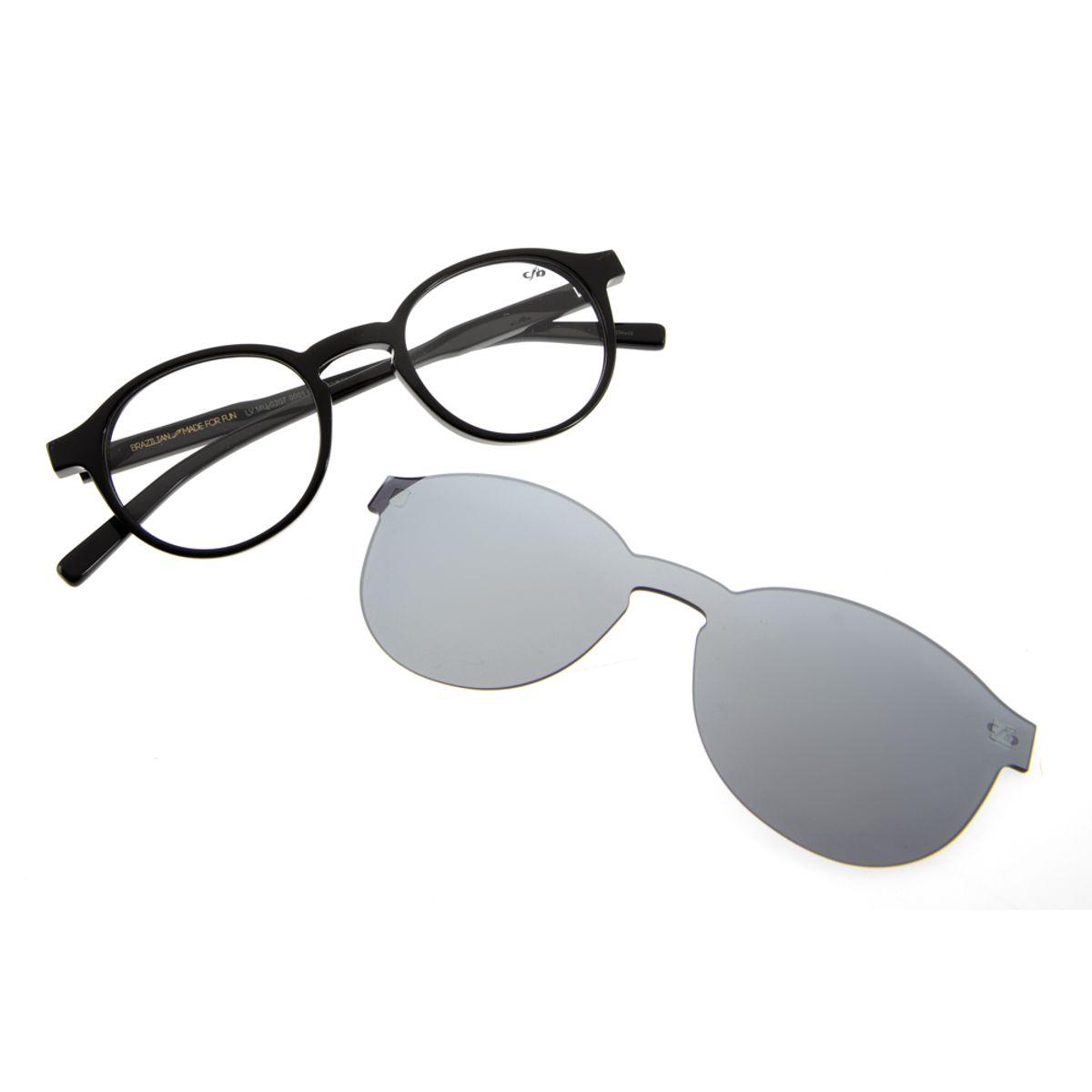 43f493056 Armação para Óculos de Grau Chilli Beans Unissex Clip On Preto 0207 -  LV.MU.0207.0001 M. REF: LV.MU.0207.0001. Previous