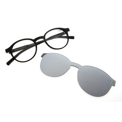 018729630ed11 Armação para Óculos de Grau Chilli Beans Unissex Clip On Preto 0207