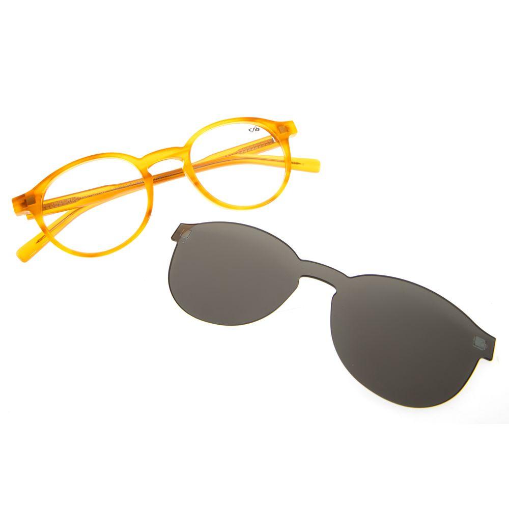 Armação para Óculos de Grau Chilli Beans Clip on Unissex Mostarda 0207