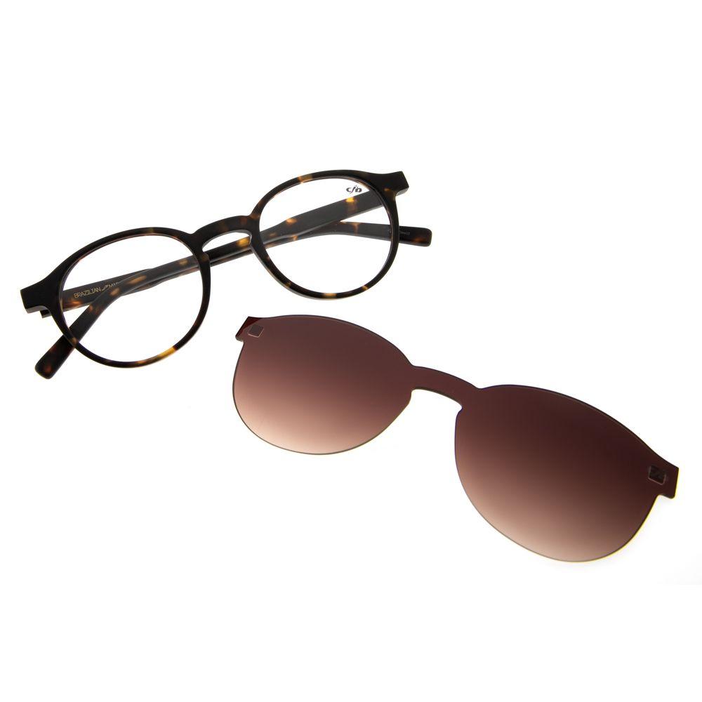 Armação para Óculos de Grau Chilli Beans Clip on Unissex Tartaruga 0207
