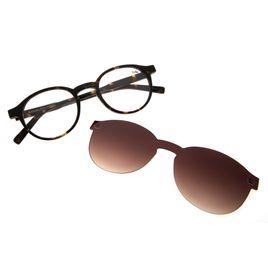 774478689 Armação para Óculos de Grau Chilli Beans Clip on Unissex Tartaruga 0207