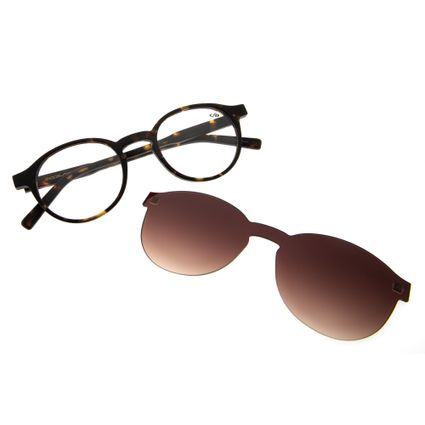 5ed4d14745a3a Armação para Óculos de Grau Chilli Beans Clip on Unissex Tartaruga 0207