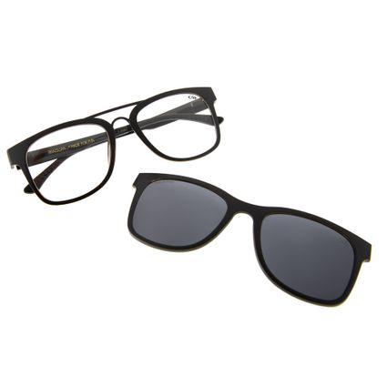 armacao para oculos de grau chilli beans clip on polarizado preto 0182 0101