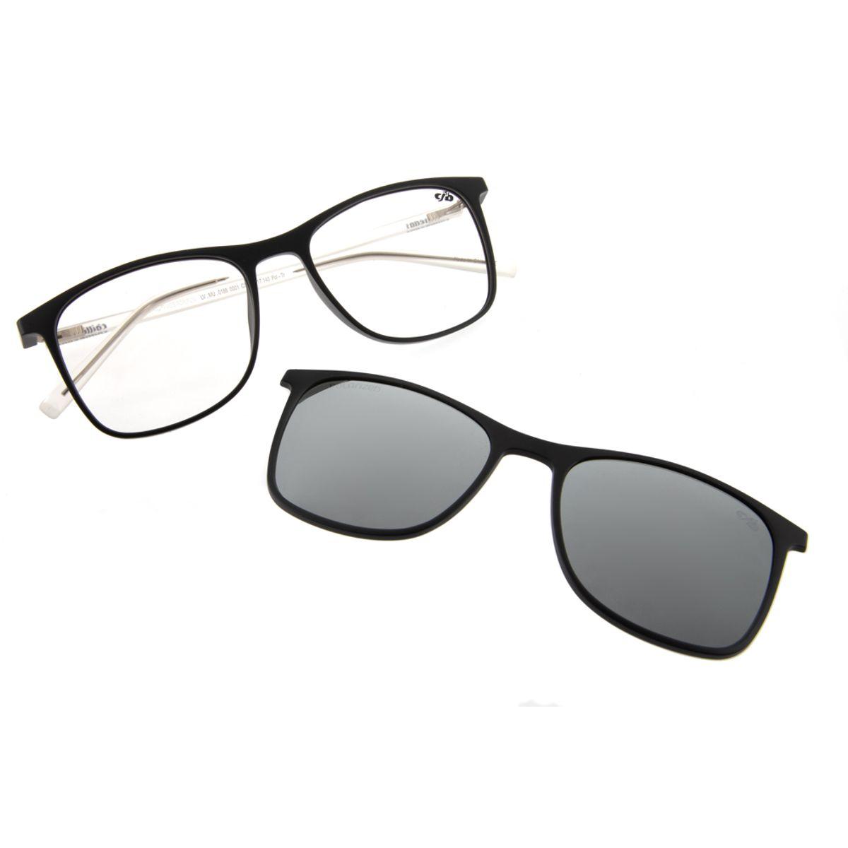 bc24d4ad0 Previous. armacao para oculos de grau chilli beans bicolor clip on preto  0186 0001; armacao para ...