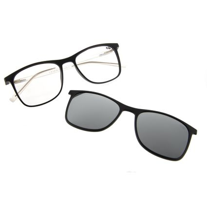 armacao para oculos de grau chilli beans bicolor clip on preto 0186 0001
