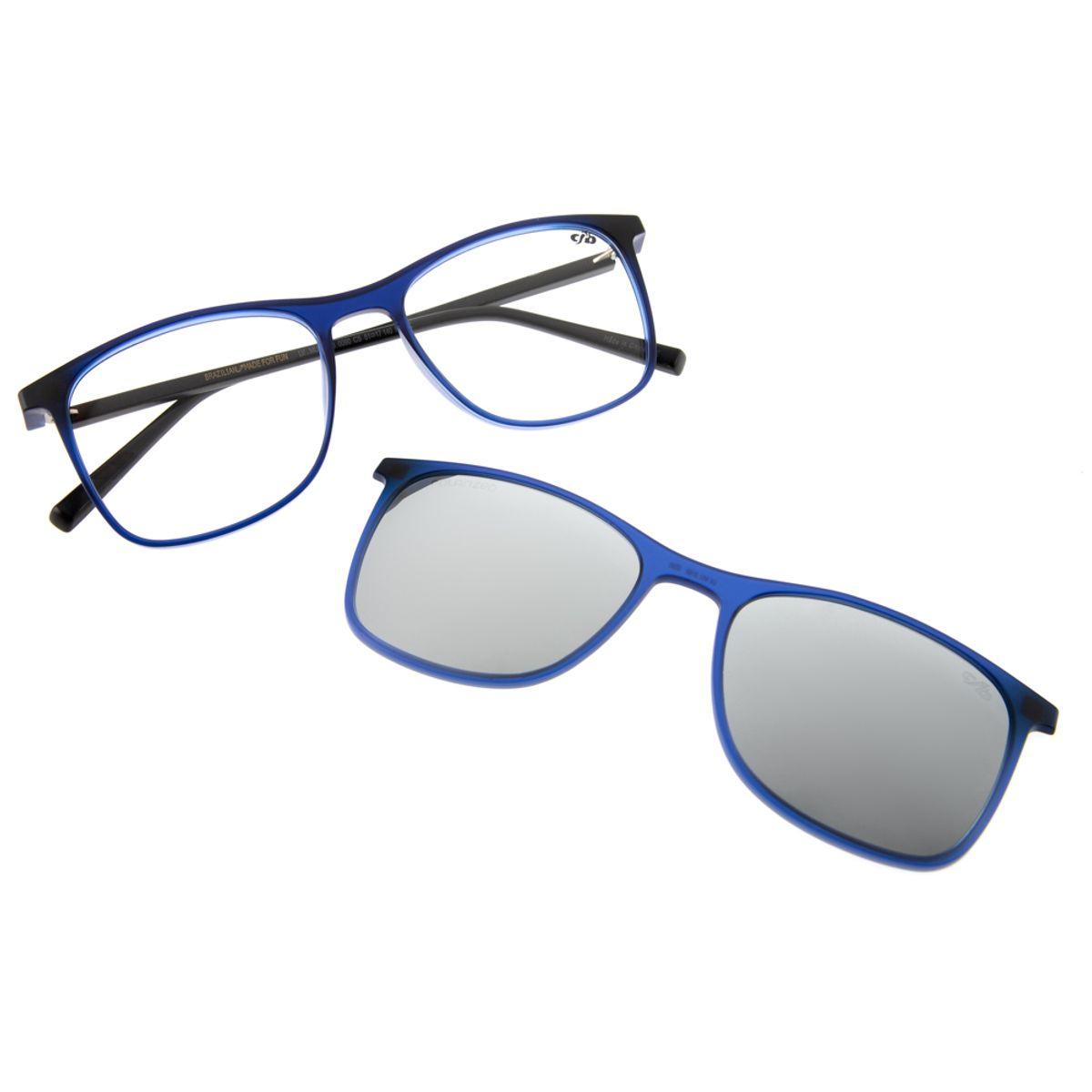 eceef8bf5 Armação para Óculos de Grau Chilli Beans Bicolor Clip On Azul 0186 -  LV.MU.0186.0090 M. REF: LV.MU.0186.0090. Previous