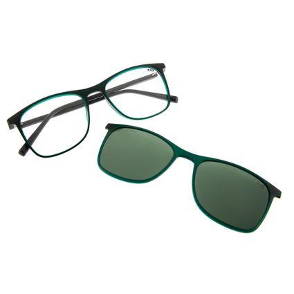 armacao para oculos de grau chilli beans unissex bicolor clip on verde 0186 1526