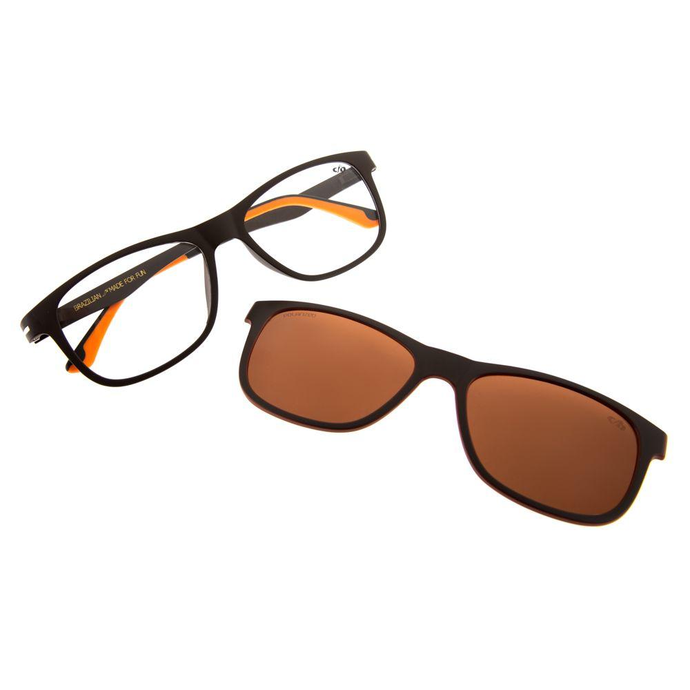 armacao para oculos de grau chilli beans unissex bicolor laranja clip on 0172 0202