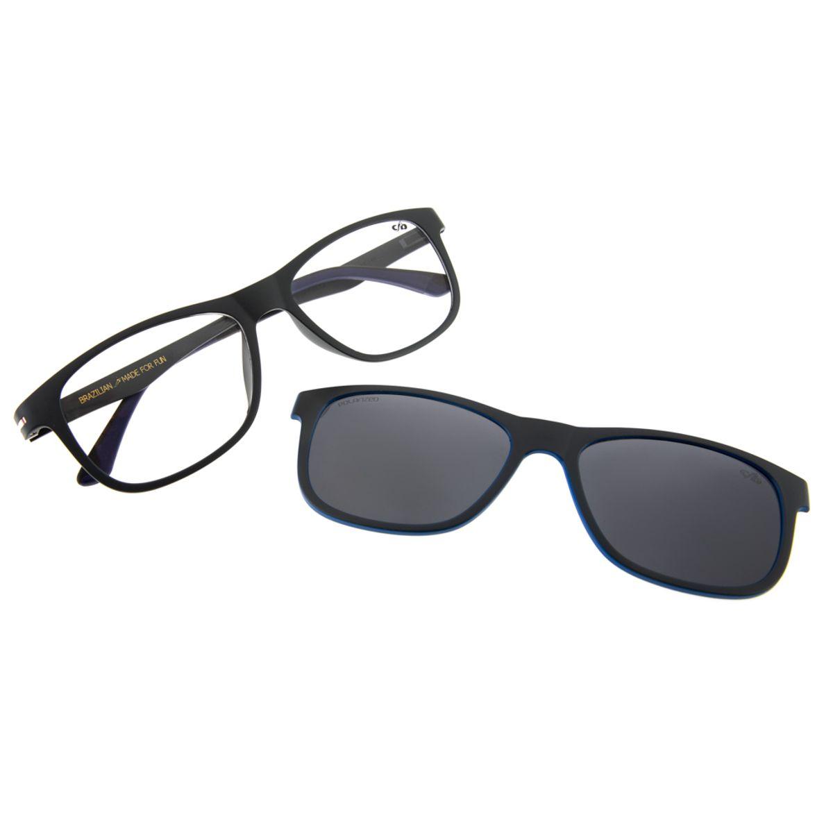 bed110902534c Armação para Óculos de Grau Chilli Beans Unissex Bicolor Cinza Clip ...
