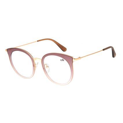armacao para oculos de grau chilli beans feminino metal marrom degrade 0316 2002