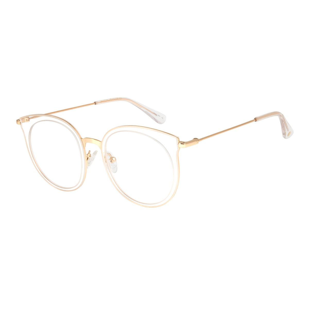 7316b59c55f2c Armação para Óculos de Grau Chilli Beans Feminino Metal Transparente ...