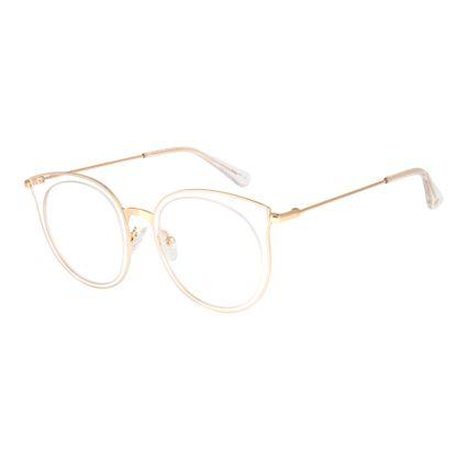 armacao para oculos de grau chilli beans feminino metal transparente 0316 3604