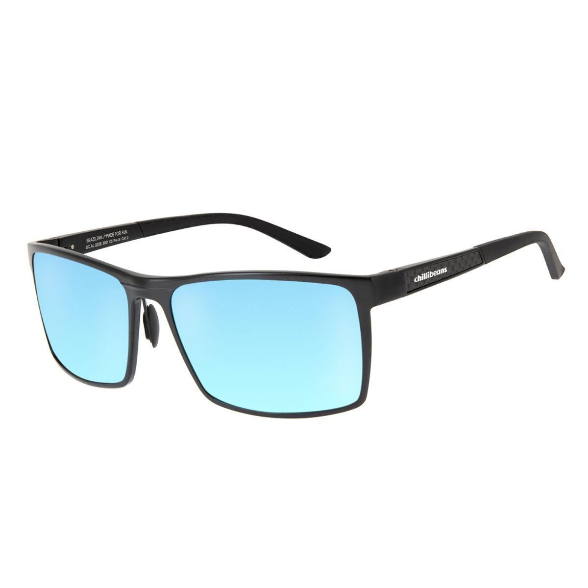 eeaa9fd51 Óculos de Sol Chilli Beans Esportivo Masculino Quadrado Polarizado Degradê  0228 ...