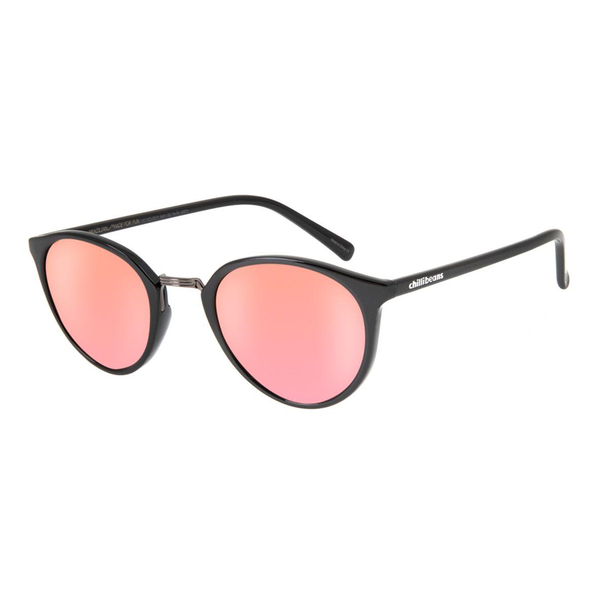 0eff8a717 Óculos de Sol Chilli Beans Infantil Rosa Espelhado 0511 - Chilli Beans