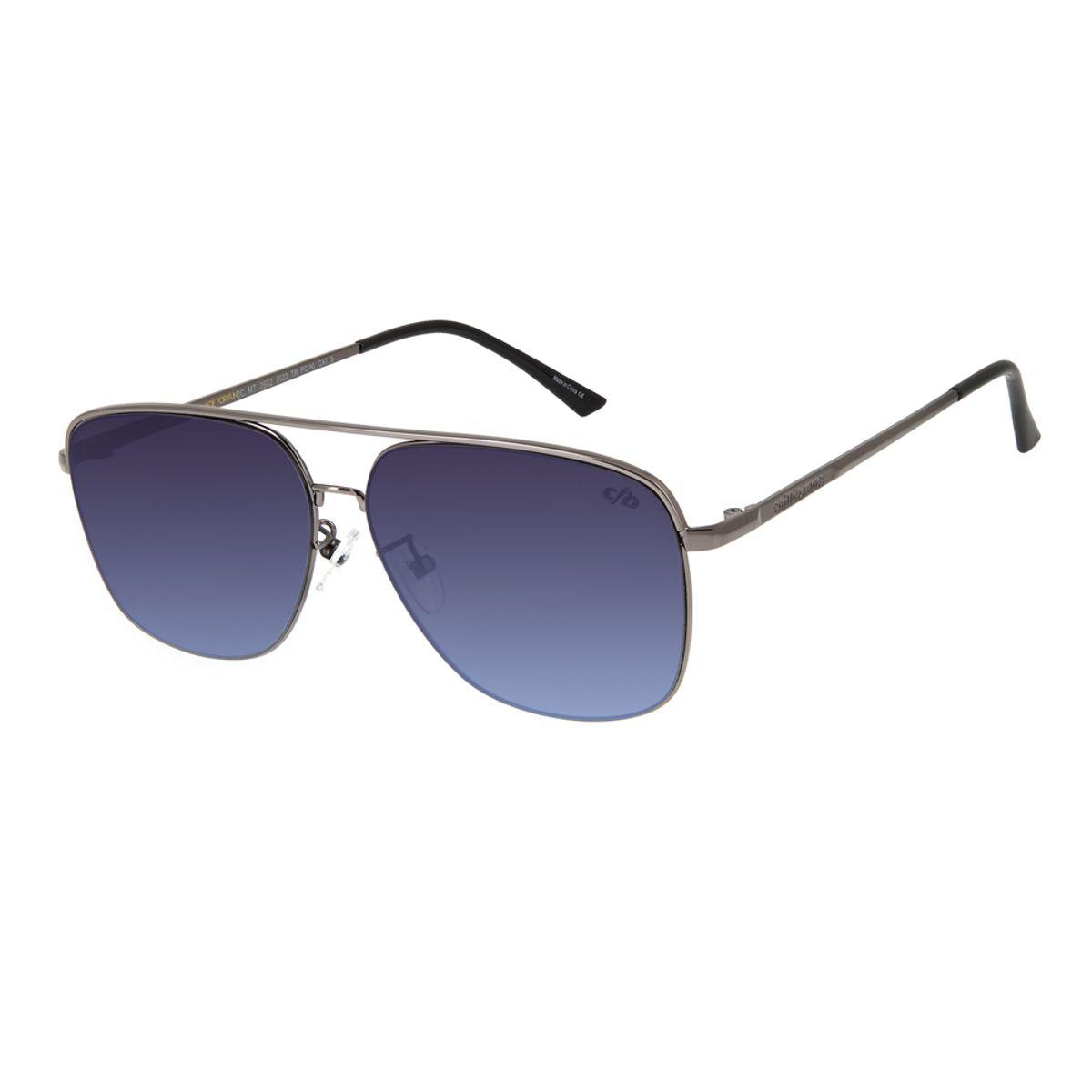 93187bbf6 Óculos de Sol Chilli Beans Masculino Executivo Metal Degradê 2602 ...