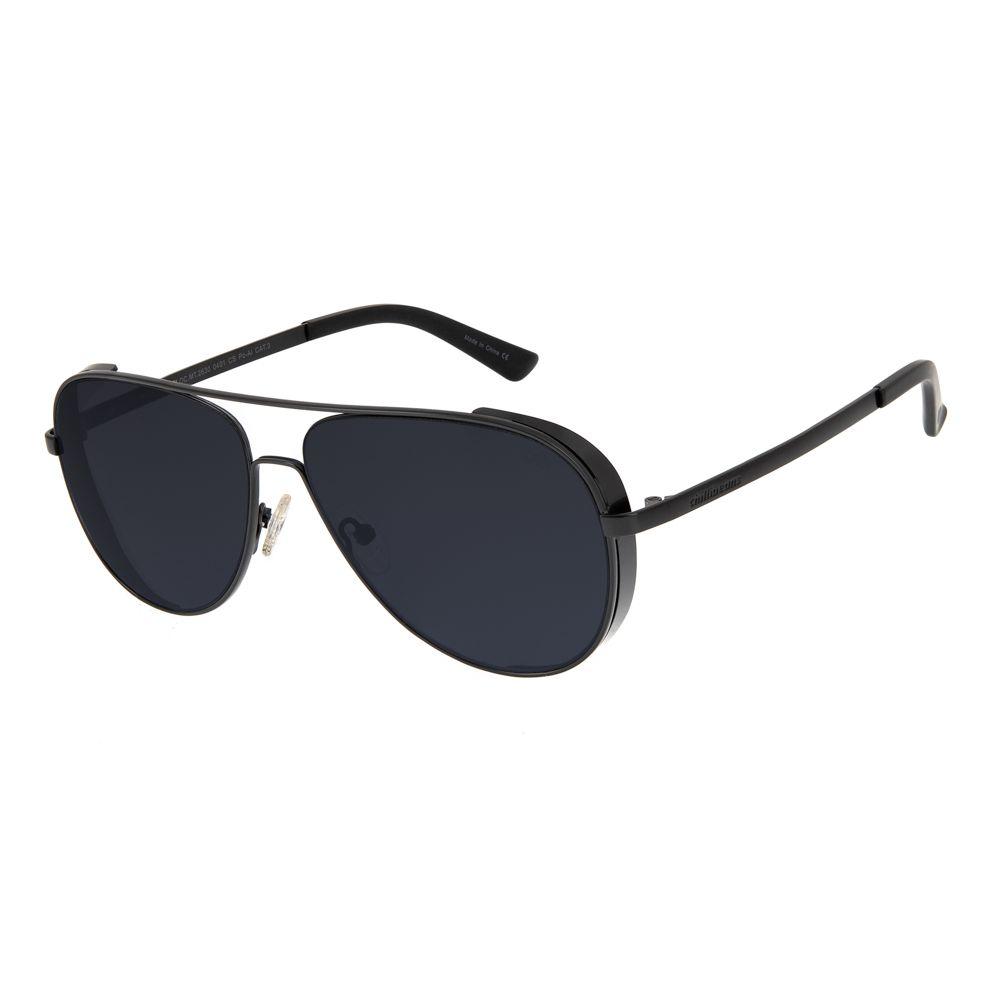 oculos de sol chilli beans masculino aviador metal preto 2630 0401