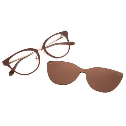 armacao para óculos de grau multi clip on lady like perolas marrom 0225 0202