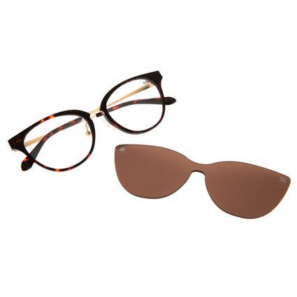 armacao para oculos de grau multi clip on lady like perolas tartaruga 0225 0202