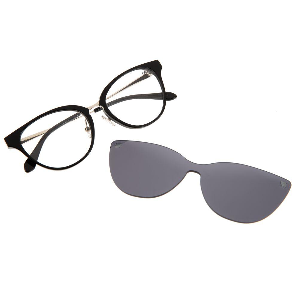armacao para óculos de grau multi clip on lady like perolas preto 0225 0401
