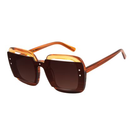 oculos de sol chilli beans oversized lady like acetato degrade laranja 2703 2011