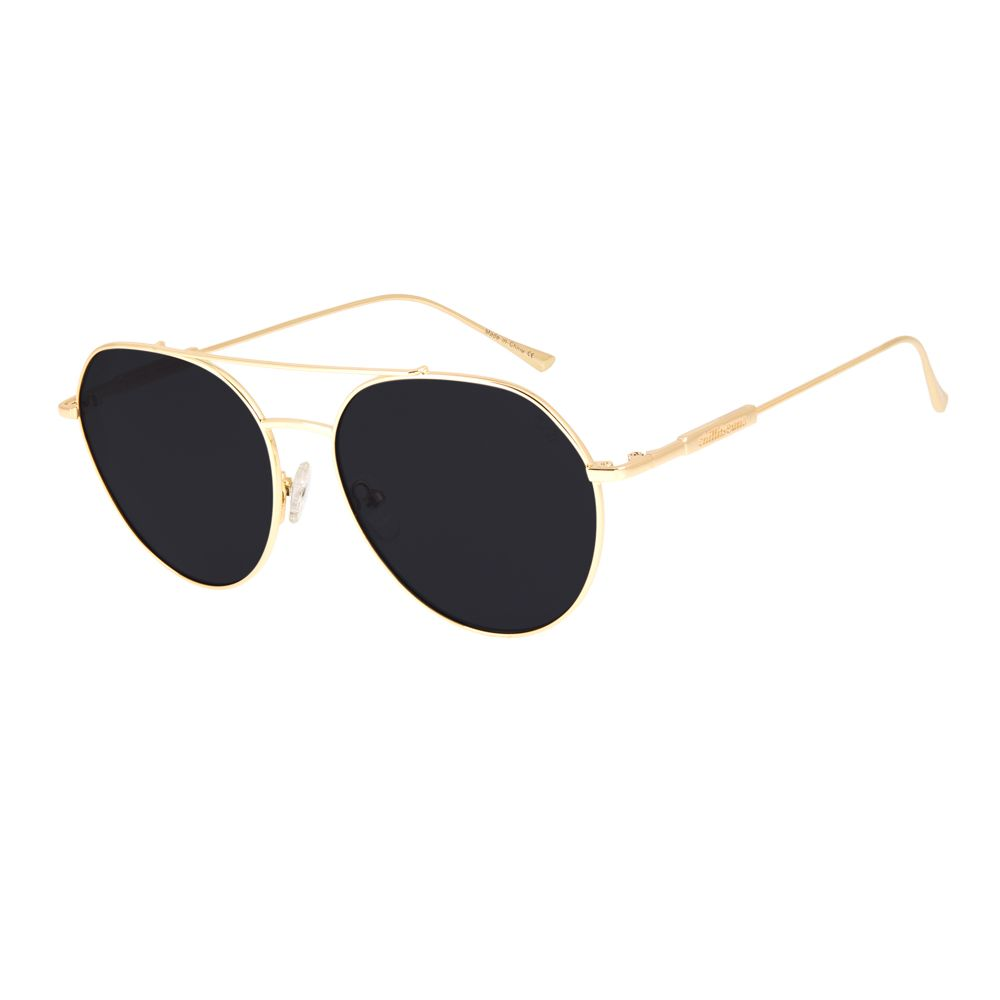 oculos de sol chilli beans aviador lady like banhado a ouro 2625 0407