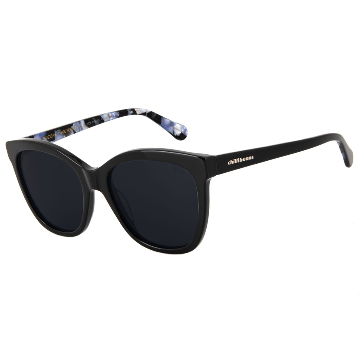 ba3b7069e Óculos de Sol Chilli Beans Clássico Lady Like Preto Polarizado 2704 ...