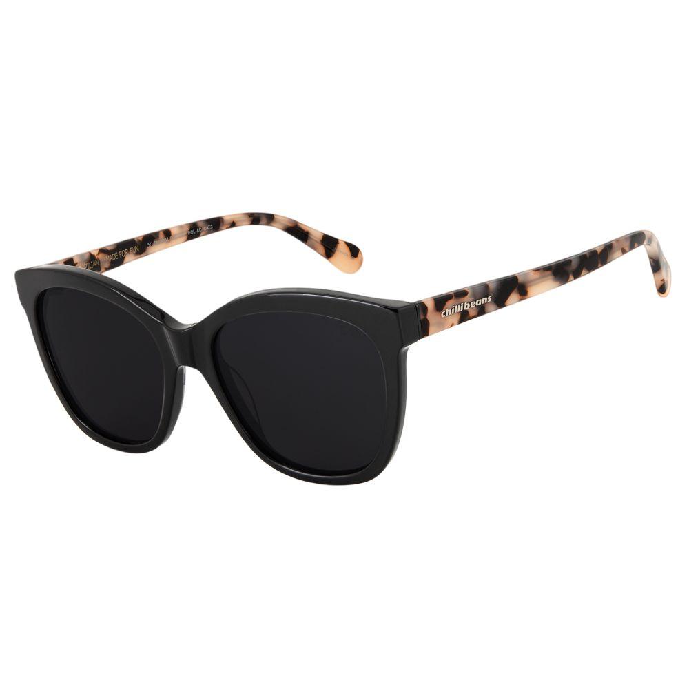 oculos de sol chilli beans classico lady like cinza polarizado 2704 0101
