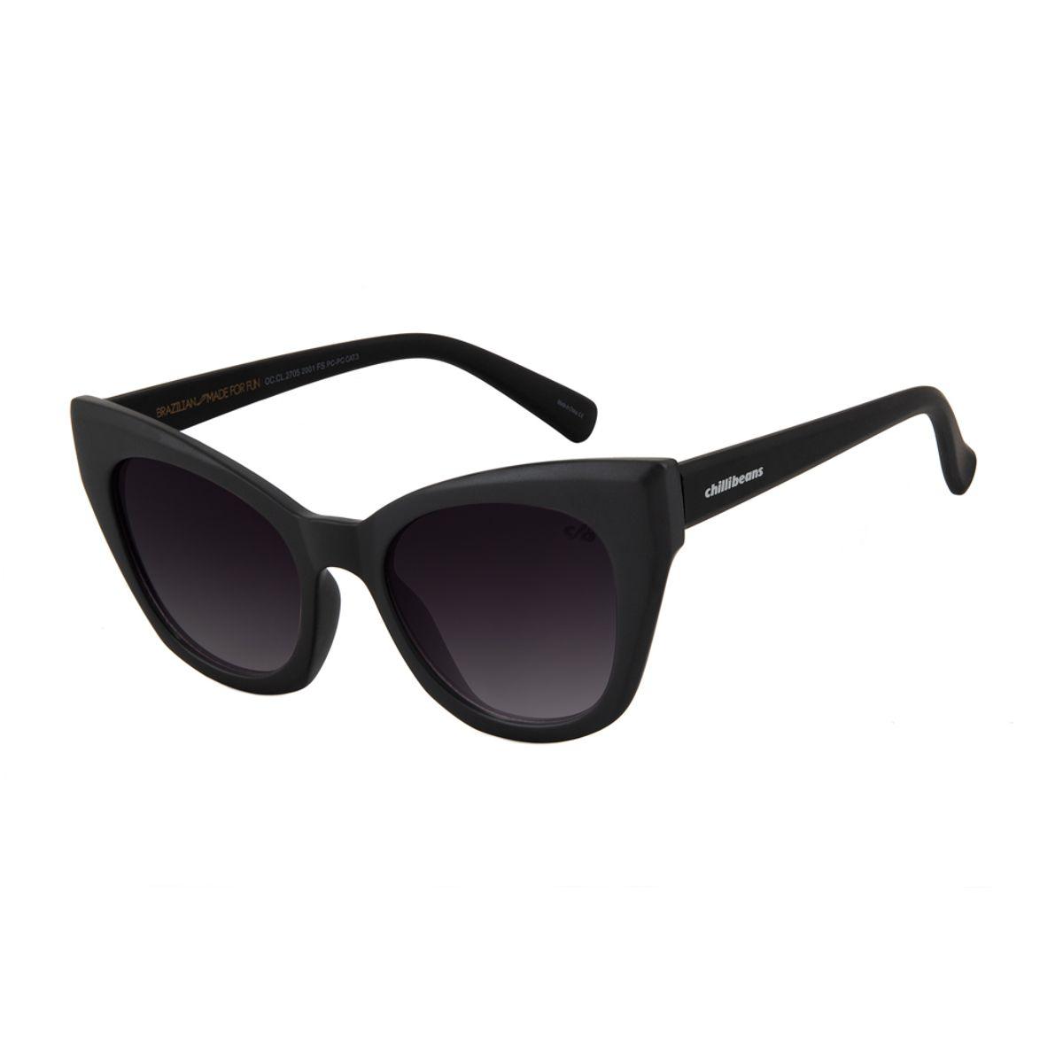 322963d6f Óculos de Sol Chilli Beans Gatinho Lady Like Preto Degradê 2705 ...