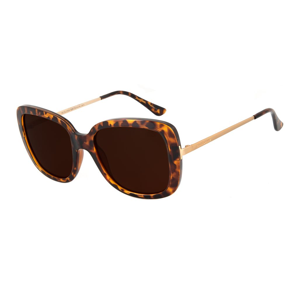 oculos de sol chilli beans lady like maxi quadrado tartaruga 2724 0206