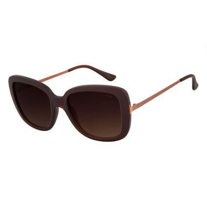 oculos de sol chilli beans lady like maxi quadrado marrom escuro 2724 2047