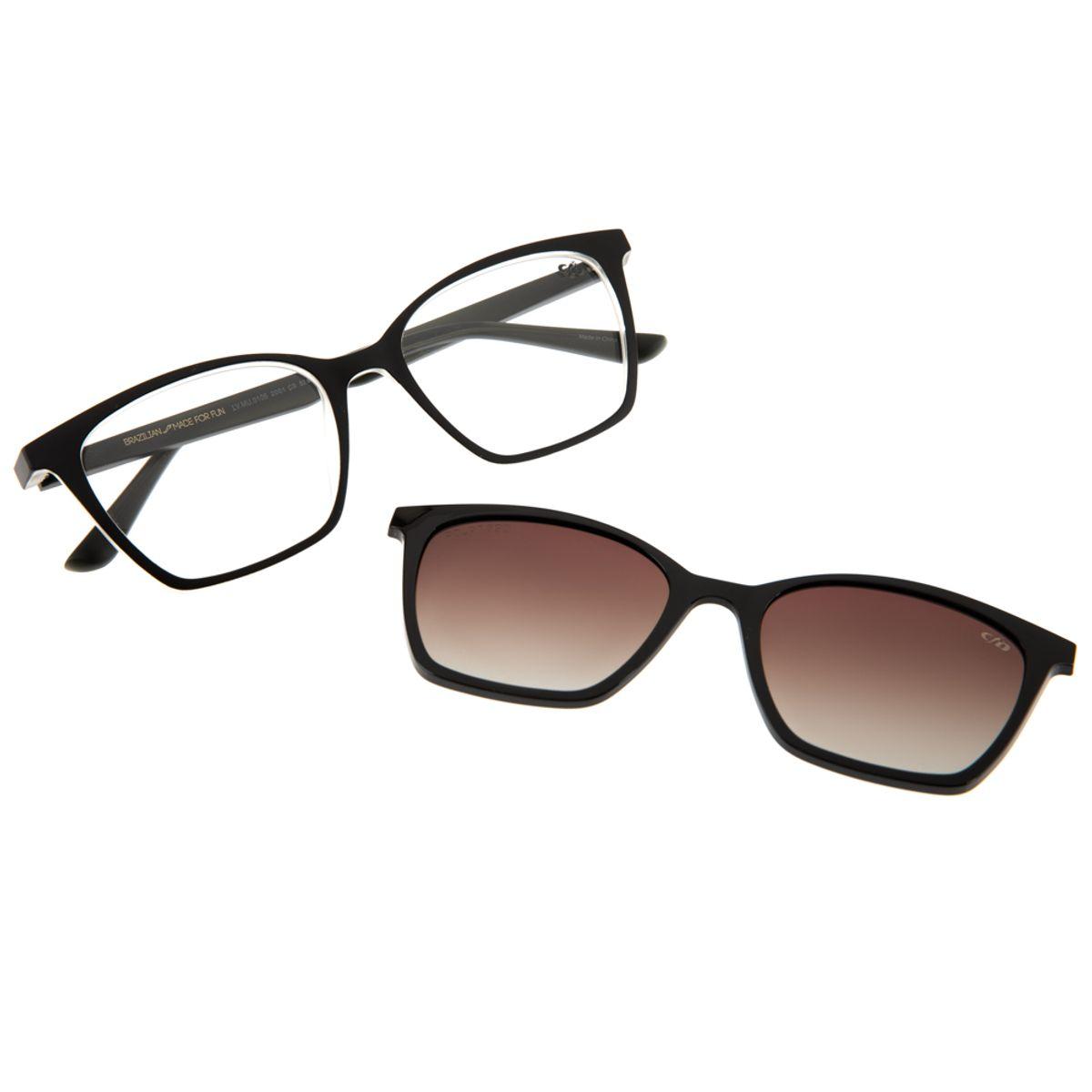 d67dd572b Armação para Óculos de Grau Feminino Gatinho Chilli Beans Multi ...