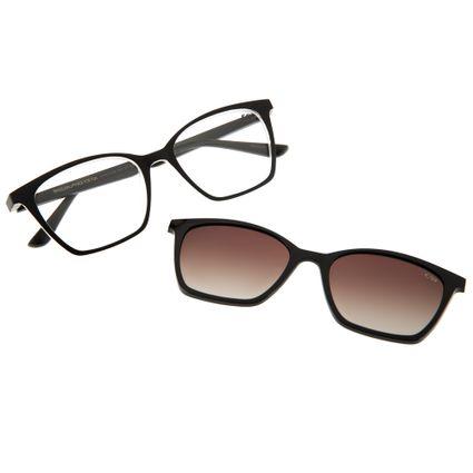 armacao para óculos de grau feminino gatinho chilli beans multi polarizado preto 0106 2001