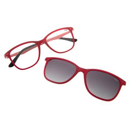 armacao para oculos de grau chilli beans feminino multi clip on vermelho 0050 2016