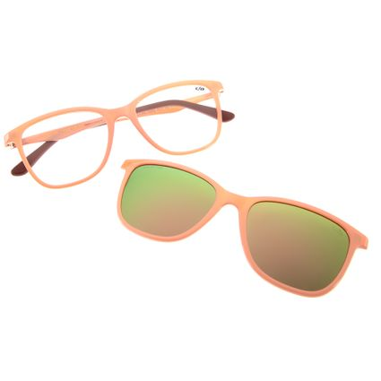 armacao para oculos de grau chilli beans feminino multi clip on rosa 0050 9523