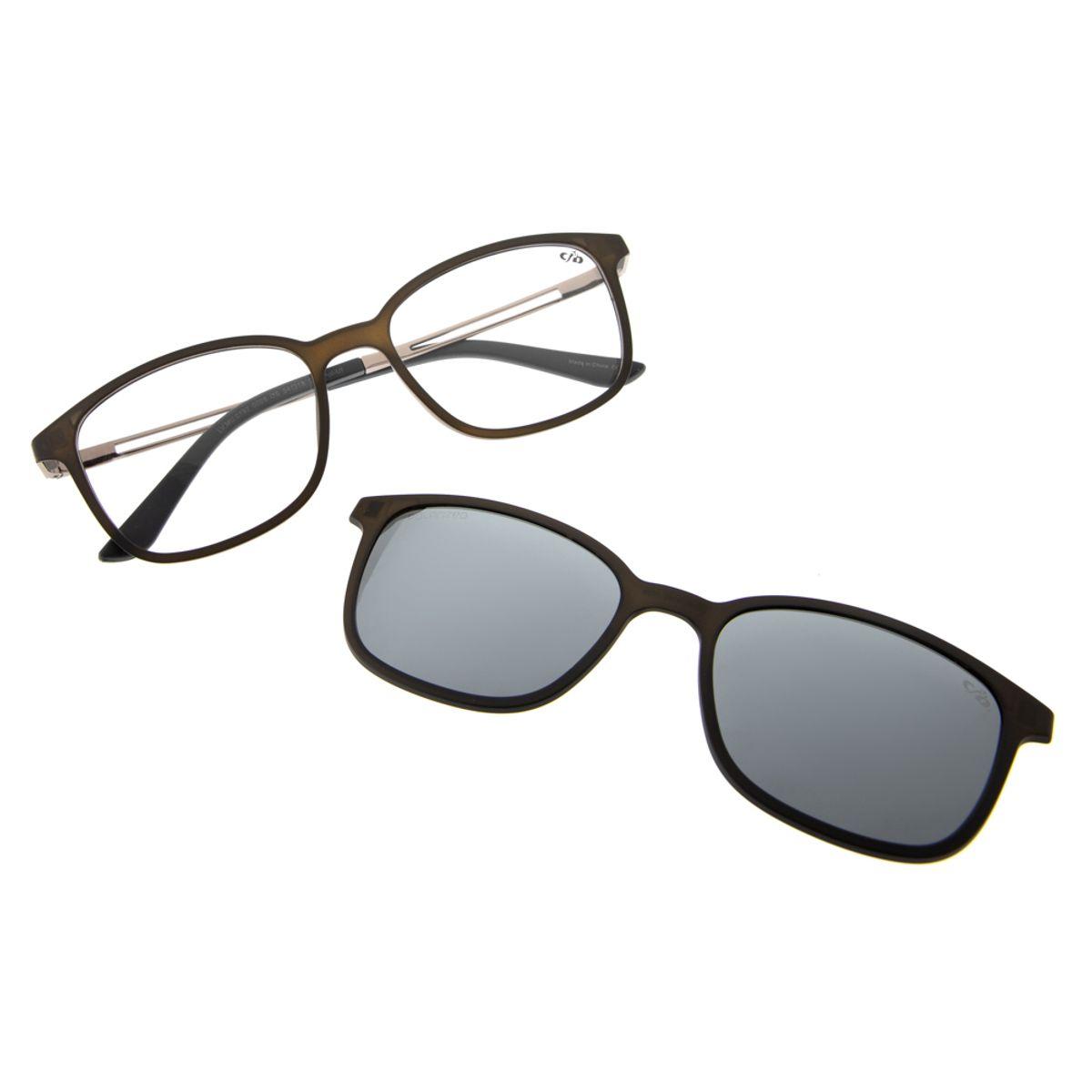 5693faaa7 Previous. armacao para oculos de grau chilli beans unissex multi clip on  polarizado ...