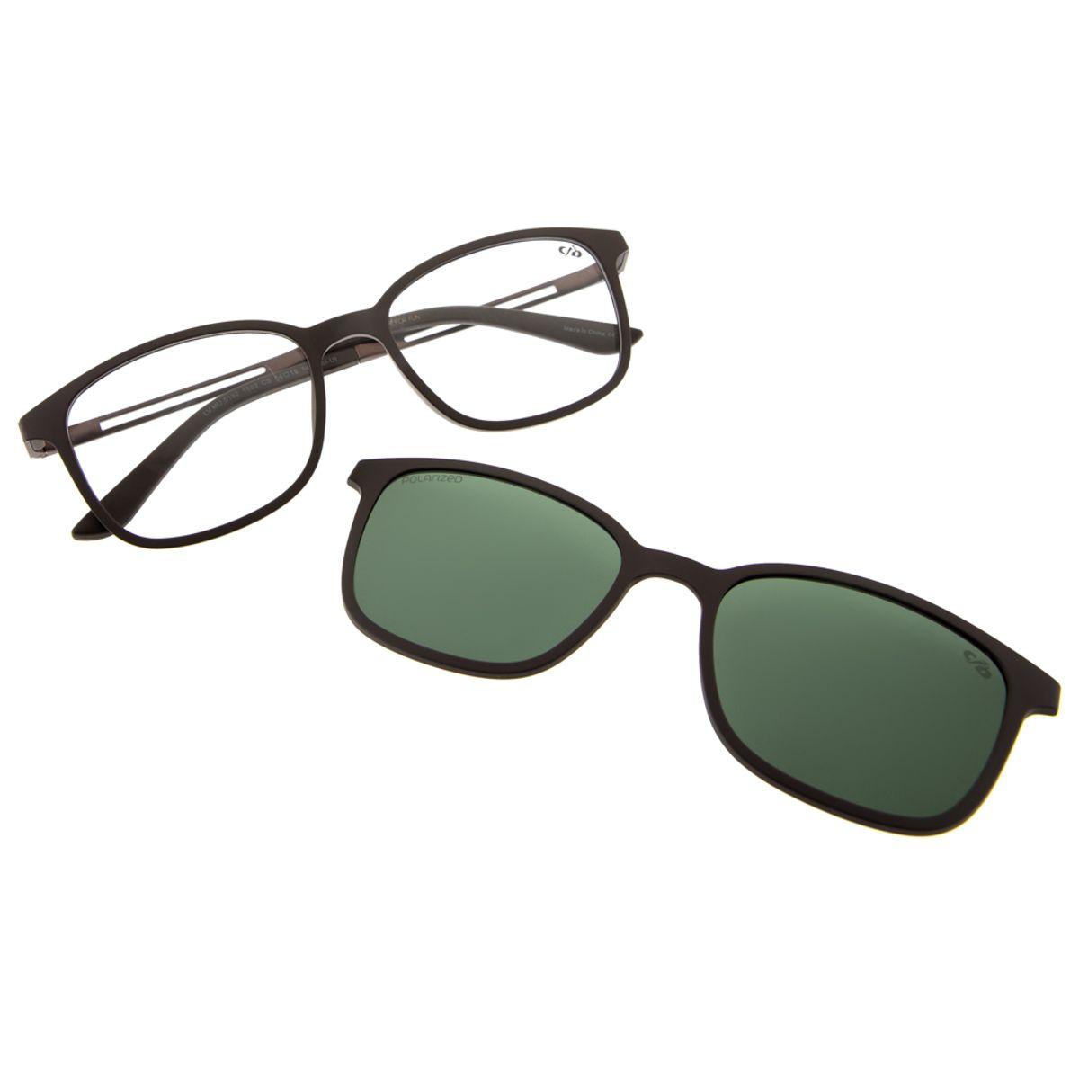 8669bdb90 Armação para Óculos de Grau Chilli Beans Unissex Multi Clip on Polarizado  Marrom 0192 - LV.MU.0192.1502 M. REF: LV.MU.0192.1502. Previous