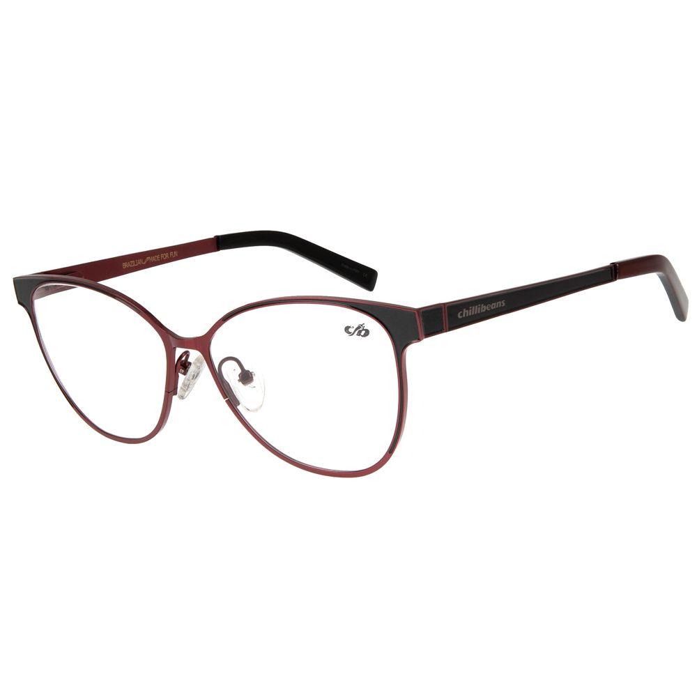armacao para oculos de grau chilli beans feminino metal vinho 0311 1616