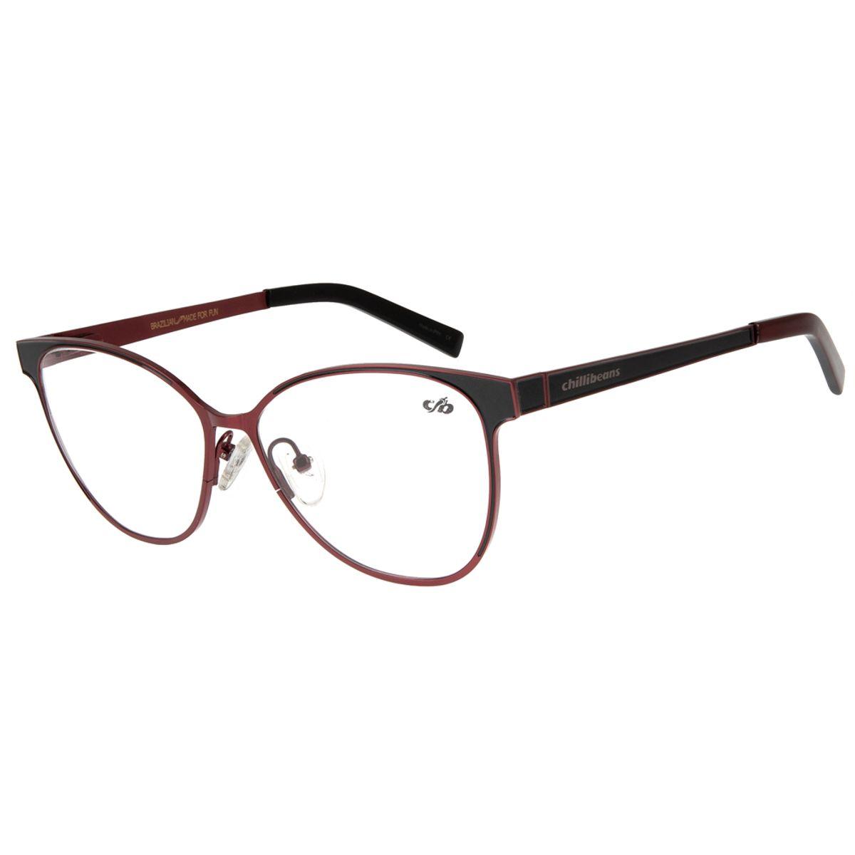 e1194d608 armacao para oculos de grau chilli beans feminino metal vinho 0311 ...