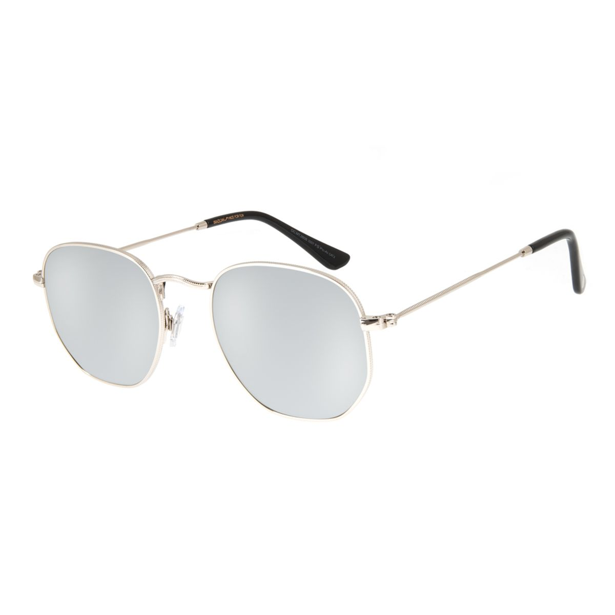 7aa3f3497 Óculos de Sol Chilli Beans Unissex Metal Redondo Prata 2606 - Chilli ...