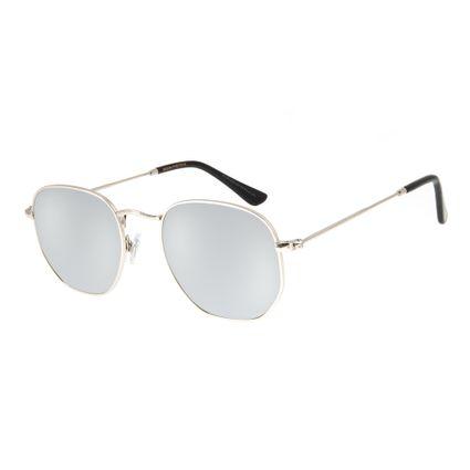 15c9539c8 Óculos de Sol Chilli Beans Unissex Metal Redondo Prata 2606 R$ 199,98 ou 4x  de R$ 49,99 Ver detalhes