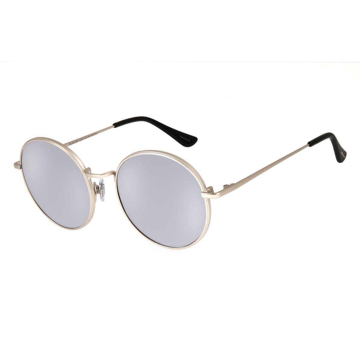 e7a431019 Óculos de Sol Chilli Beans Unissex Metal Redondo Prata 2617 - Chilli ...