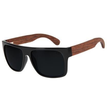 Óculos de Sol Masculino Chilli Beans Haste de Bambu Preto Polarizado OC.CL.1747-0130