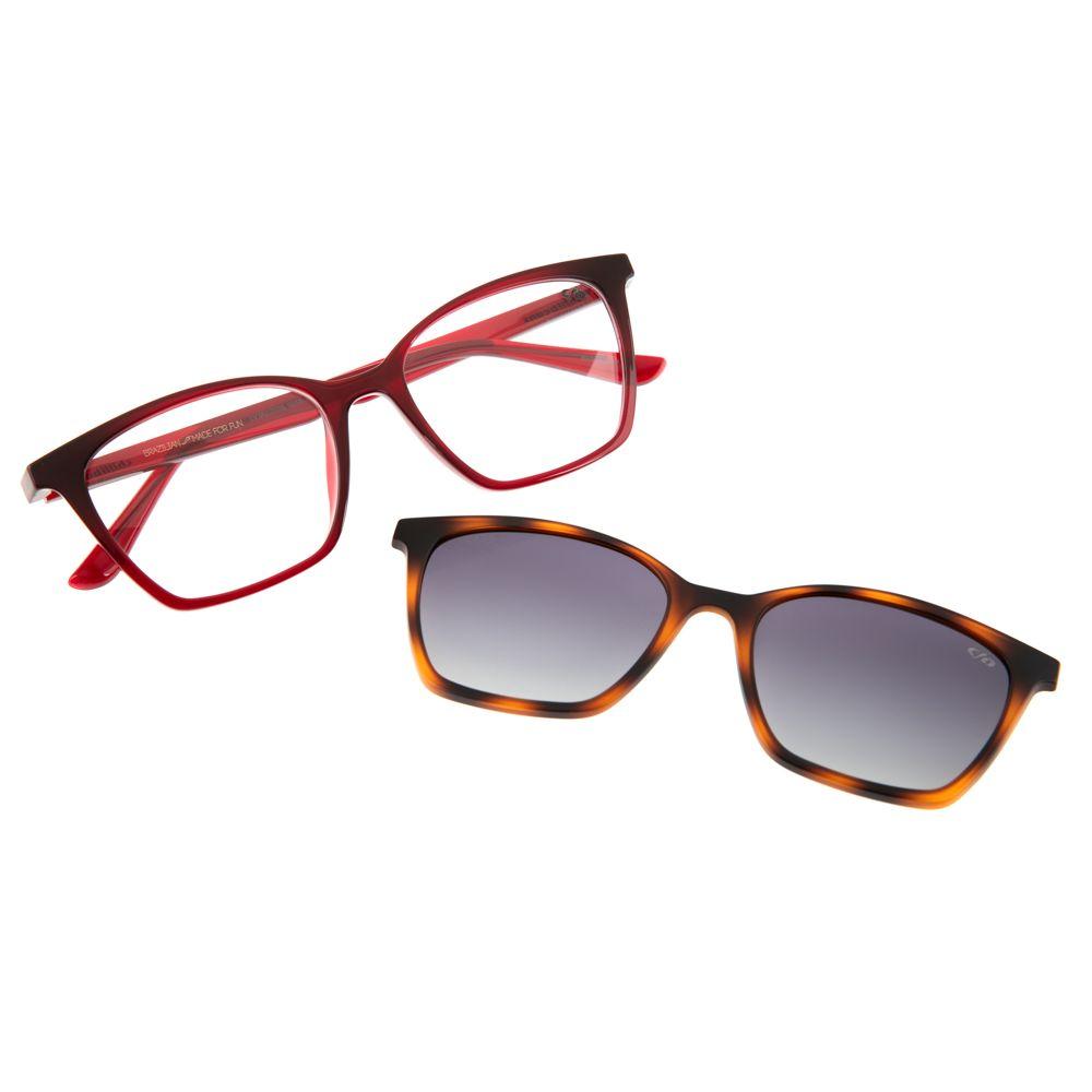 armacao para óculos de grau feminino gatinho chilli beans multi polarizado vermelho 0106 2016