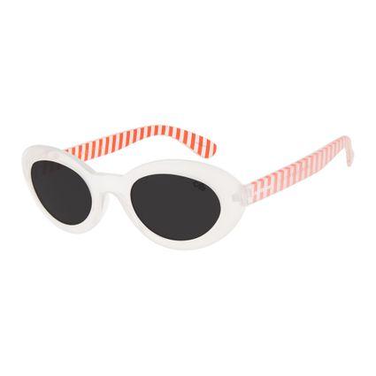 oculos de Sol Chilli Beans Infantil candy cane  branco 0592 0116