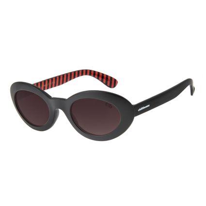 oculos de sol chilli beans infantil candy cane  preto 0592 2001